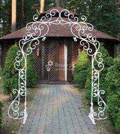 Кованная фигурная стальная арка