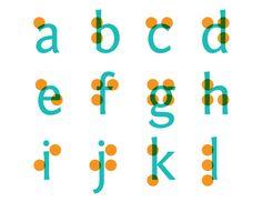 braille letter font