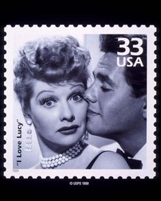 NEW I LOVE LUCY STAMP ISSUED BY THE UNITED STATES POSTAL SERVICE.