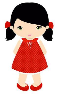 Minus - Say Hello! Little girl clip art Cartoon Pics, Girl Cartoon, Cute Cartoon, Cute Images, Cute Pictures, Girls Clips, Cute Characters, Cute Dolls, Cute Illustration