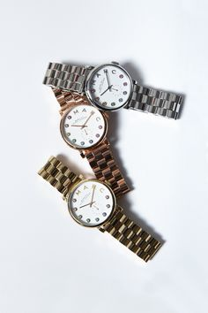 Marc by Marc Jacobs Dexter Bracelet Watches in Silver, Rose Gold, and Gold!