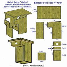 Plan nichoir balcon modelisme pinterest nichoirs for Garage danielle casanova