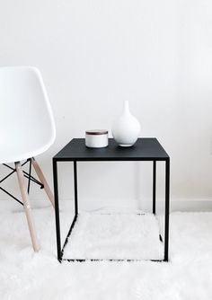Side Table Black Coffee Table Side Table Modern by CraftsManhattan