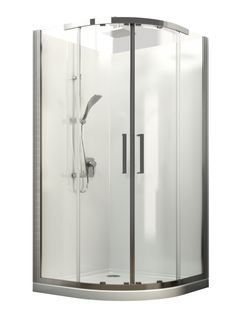Englefield Milano Round Shower  Englefield Milano Round Shower Round front shower, chrome frame, different sizing options, includes low profile tray and liner. http://www.plumbin.co.nz/shop/showers/milano_round.html