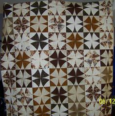 """Winding Ways quilt top using 11"""" block templates from Marti Michell."""