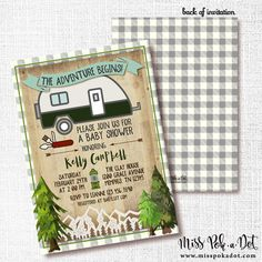 47 Ideas Camping Theme Wedding Shower Woodland Baby For 2019 Camping Parties, Camping Theme, Camping Baby Showers, Camping Invitations, Wedding Shower Invitations, Couple Shower, And So The Adventure Begins, Woodland Baby, Baby Shower Themes