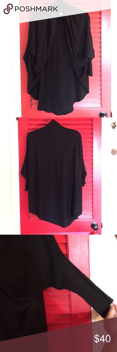 Anthropologie cocoon cardigan THE perfect black sweater! Super soft, versatile cut, and it goes with everything! What's not to love? If you're looking for a new black cardigan, look no further, this is the one for you! Worn twice Anthropologie Sweaters Cardigans