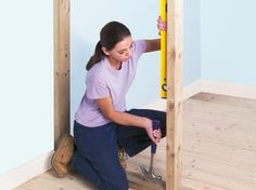 Learn how to build a non-loadbearing stud wall and install a doorway.