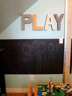 Play room ideas - Play/Read/Create wall art for different sections of the room?