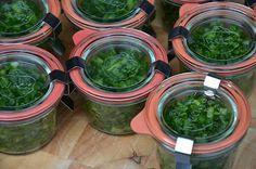 Wecken en inmaken en meer Food Dryer, Survival Food, Canning Recipes, Palak Paneer, Preserves, Pickles, Cucumber, Spinach, Healthy Recipes