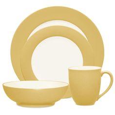Noritake Colorwave Mustard 4-Piece Rim Place Setting