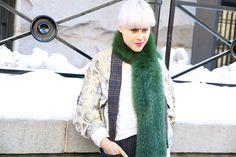 Street look à la Fashion Week de New York automne-hiver 2014-2015, Jour 3