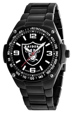 Men's Game Time Watches 'NFL Gladiator - Oakland Raiders' Bracelet Watch
