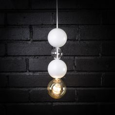QUU Valaisin Large 3 palloa (Iso+pieni+iso) – Design from Scandinavia Glass Ball, Recycled Glass, My Dream Home, Light Bulb, Design Products, Lighting, House, Home Decor, My Dream House