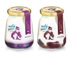 Love the drawing on this yoghurt packaging for dairy company Maly Gazda by Slovakian design agency Pergamen.