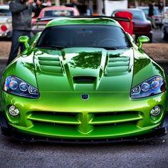 Vicious Venom Green Viper SRT-10! See more cool pics like this via carhoots.com. Sign up today!