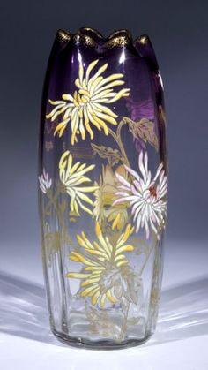 Vase Moser Karlsbad Glass Art Deco Nouveau Old