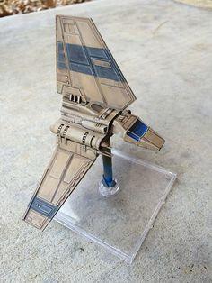 Lambda repaint Starship Modeler, Imperial Assault, X Wing Miniatures, Miniture Things, Nerd Stuff, Custom Paint, Scale Models, Board Games, Games