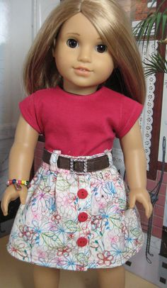 18 inch Doll Clothes American Girl Flower Doodles by nayasdesigns, $28.50
