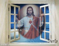 CELEBRACIONES CATOLICAS: Sagrado Corazón de Jesús Pictures Of Christ, Jesus Christ Images, Catholic Prayers Daily, Holy Quotes, Bible Scriptures, Blessings, Mother Mary Images, Mom Picture, Religious Pictures