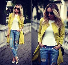 Max Mara Coat, H&M Top, Zara Jeans, Zero Uv Sunnies, Chanel Purse