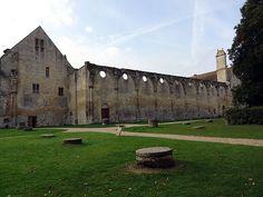 L'abbaye de Royaumont. Ruines.Val-d'Oise. Ile-de-France