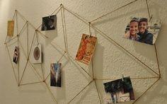 Tutoriale DIY: Cómo hacer un portafotos geométrico con cuerda vía DaWanda.com