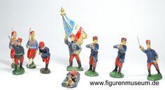 Franzosen Infanterie - ungemarkte 6 cm Figuren