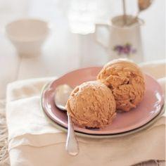 Salty Caramel Ice Cream with hand stirred burnt sugar.
