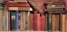 Lots of vintage books line our shelves xx