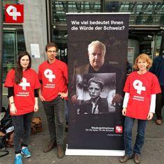 Sammelaktion für Wiedergutmachungsinitiative in Luzern #wiedergutmachen