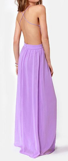 Lavender backless maxi