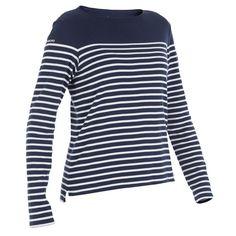 aab0b1997af Camiseta de manga larga marinera mujer Azul