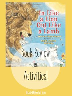 In Like a Lion Out Like a Lamb book review and activities for the primary grades Weather Activities Preschool, Drama Activities, Preschool Books, Preschool Science, Book Activities, Preschool Printables, Spring Activities, Science Classroom, Preschool Crafts