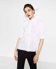 OVERSIZED EMBROIDERED SHIRT-View all-TOPS-WOMAN   ZARA United States