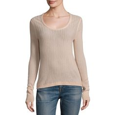 Rag & Bone Estelle Herringbone Cashmere Sweater ($395) ❤ liked on Polyvore featuring tops, sweaters, contemporary sp - workshop, long sleeve sweater, cashmere sweater, cashmere pullover sweater, scoop neck sweater and long sleeve pullover sweater