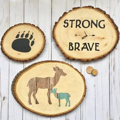 A personal favorite from my Etsy shop https://www.etsy.com/listing/248179770/bear-paw-wood-slice-woodland-bear