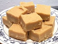 Easiest PB Fudge EVER 2 cups sugar, 1/2 cup milk. 1 tsp. vanilla, 3/4 cup peanut butter. Bring sugar and milk to a boil. Boil two and a half minutes. Remove from heat and stir in PB and vanilla. That's it.
