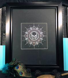 Obilito  skull mandala original artwork by RookAndOwlStudios