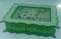 Decoupage, Country, Crochet, Mini, Frame, Home Decor, Decorated Boxes, Painted Boxes, Wooden Crates
