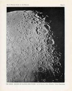 1910 set of 3 moon craters original antique astronomy prints of the moon surface. $20.50, via Etsy.