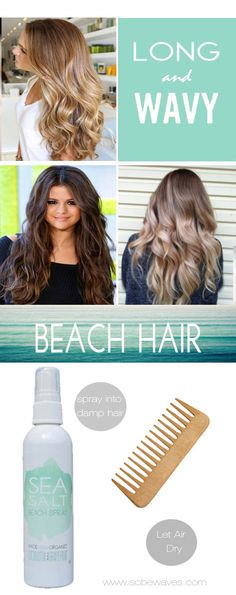 How to beach hair, spray Sobe Waves into damp hair and let air dry.