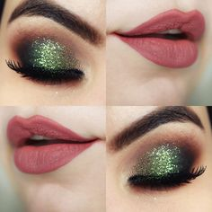 Tutorial – maquiagem rápida e fácil verde natalina (que eu fiz na Nina Secrets)