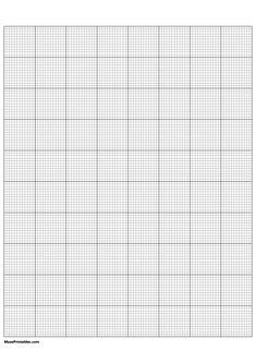 Printable 12 Squares Per Inch Black Graph Paper for A4 Paper Printable Graph Paper, Free Printables, A4 Paper, Squares, Templates, Black, Color, Stencils, Bobs