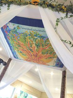 CUSTOM CHUPPAH - Huppah - Jewish wedding chuppah - Jewish Judaica Art - Custom family tree - Fabric print artwork - Family Tree