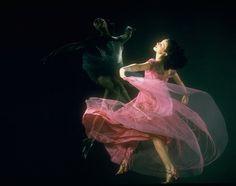 Double exposure of American Ballet Theater dancer Milada Mladova 1941