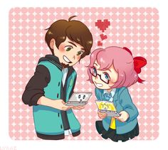"""peanutbuttergamer: """" ly-rae: """" My friend @breadcutfries wanted me to dro PBG/Hana from Asago Academy so!!! Yeah :^)) """" This is adorable!! """""""