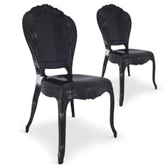 Lot de 2 chaises royales Crown plexi noir