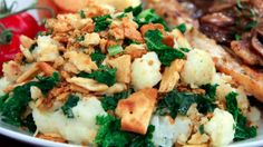 Cauliflower Kale Gratin | Steven and Chris | This is an easy and tasty recipe, with a fantastic cheese sauce you can use for a variety of things, like mac and cheese.