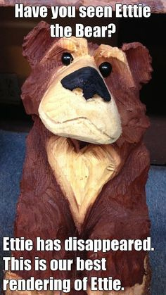 If you have seen Ettie the Bear?   Please report sightings at on.fb.me/11eVGB0